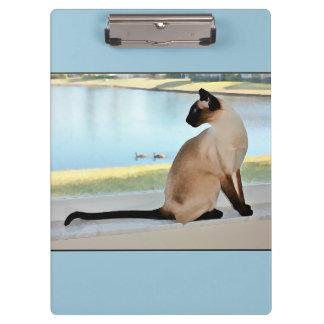 平和なシャム猫の絵画 クリップボード