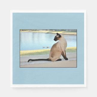 平和なシャム猫の絵画 スタンダードランチョンナプキン
