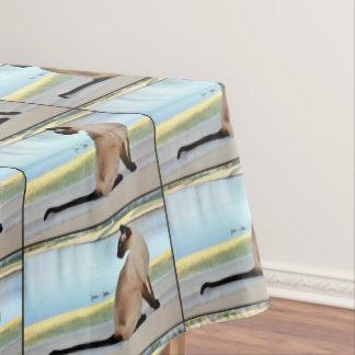 平和なシャム猫の絵画 テーブルクロス