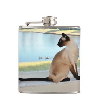 平和なシャム猫の絵画 フラスク