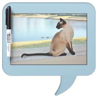 平和なシャム猫の絵画 ホワイトボード