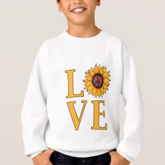 平和なヒマワリを愛して下さい スウェットシャツ