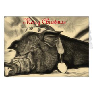平和なブタのクリスマスカード カード