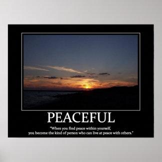 平和なポスター意欲の元およびインスピレーションポスター ポスター