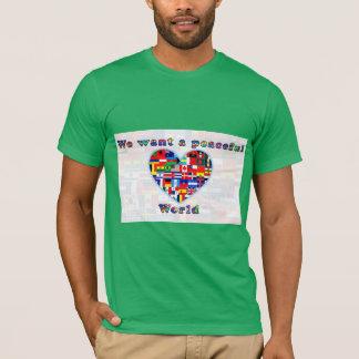 平和な世界のワイシャツ Tシャツ