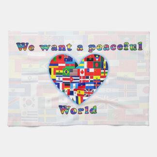 平和な世界の台所タオル キッチンタオル
