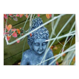 平和な庭の仏の挨拶状 カード