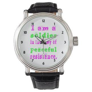 平和な抵抗の兵士の軍隊 腕時計
