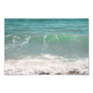 平和な波の青緑の海のビーチの写真撮影 フォトプリント