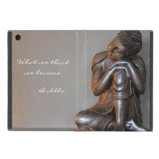 平和な銀製の仏の閉めて下さい iPad MINI ケース