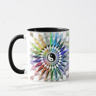 平和な陰陽の禅のヨガのカラフルな黙想タオ マグカップ