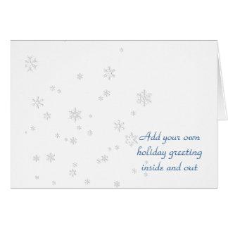 平和な雪の落下 カード