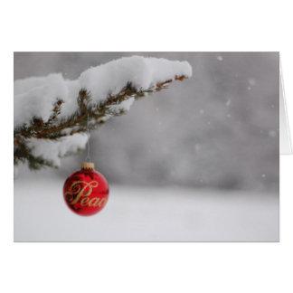 平和な雪 カード
