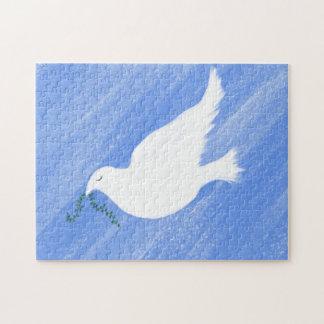平和な鳩のイラストレーション ジグソーパズル