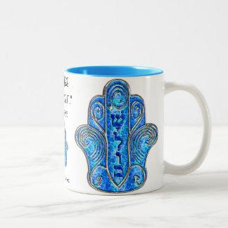 平和なHamsa (マグ) ツートーンマグカップ