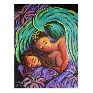 平和にカップルを夢を見ること ポストカード