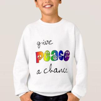 平和にチャンスを与えて下さい スウェットシャツ