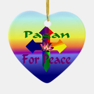 平和のための異教徒 セラミックオーナメント