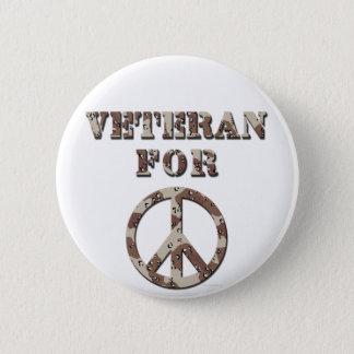 平和のための退役軍人 5.7CM 丸型バッジ