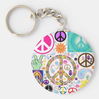 平和のコラージュ キーホルダー