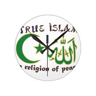 平和の宗教 ラウンド壁時計