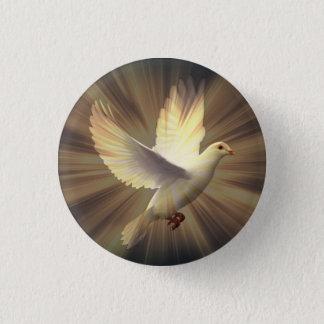 平和の白い鳩 3.2CM 丸型バッジ
