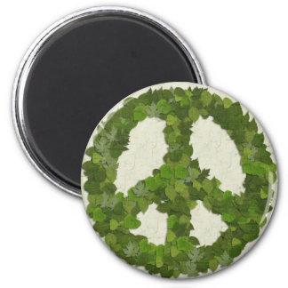 平和の緑の葉 マグネット