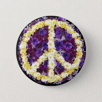 平和の花 5.7CM 丸型バッジ