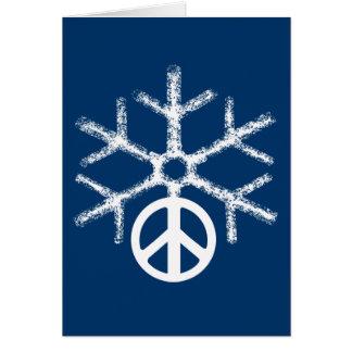 平和の雪 カード