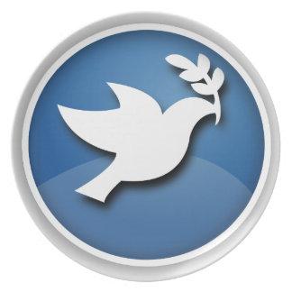 平和の青い鳩 プレート