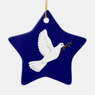 平和の鳩(青い) セラミックオーナメント