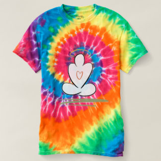 平和の黙想の人の調和の絞り染めのワイシャツ Tシャツ