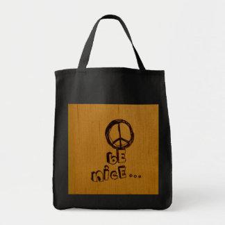 平和はニースです トートバッグ
