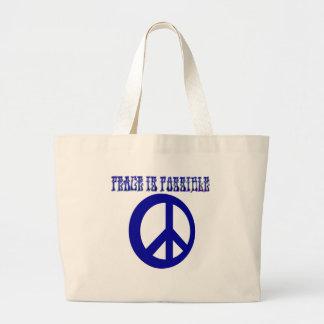 平和は可能です(青い) ラージトートバッグ