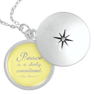 平和は毎日の責任です スターリングシルバーネックレス