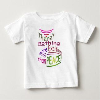 平和より刺激的な何もありません ベビーTシャツ