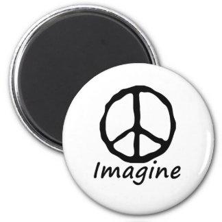 平和を想像して下さい マグネット