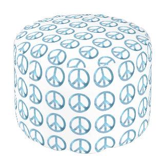 平和アイコンエレガントなパターンラウンドパフ プーフ
