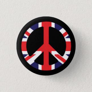平和イギリス 3.2CM 丸型バッジ
