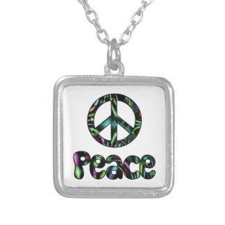 平和オーロラのフラクタルのネックレス シルバープレートネックレス