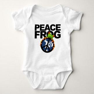 平和カエル2 ベビーボディスーツ