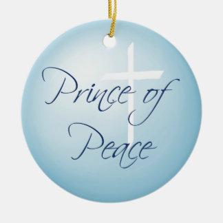 平和カスタムの日付がついたクリスマスの王子 セラミックオーナメント