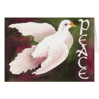 平和クリスマスカードの鳩 カード