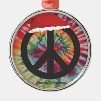 平和クリスマス メタルオーナメント