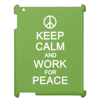 平和ケースのための平静及び仕事を保って下さい iPadケース