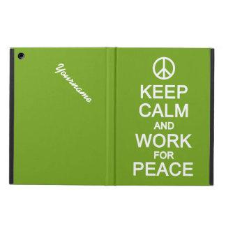 平和ケースのための平静及び仕事を保って下さい iPad AIRケース