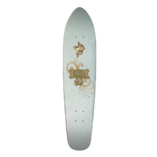 平和コラージュ スケートボード