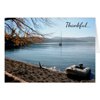 平和サンファン島の挨拶状のために感謝している カード