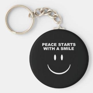 平和スマイルのキーホルダー キーホルダー