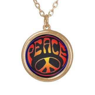 平和ネックレス ゴールドプレートネックレス